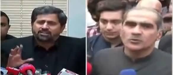 Khawaj Saad Rafique Media Talk After Appearance in Court - 14th November 2018