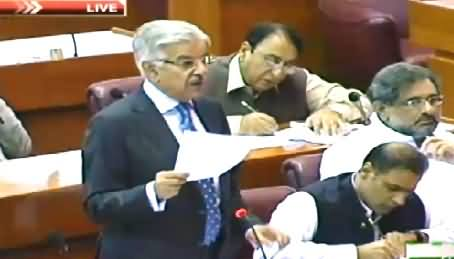 Khawaja Asif Speech in Parliament on Load Shedding Issue – 24th June 2015