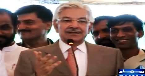 Khawaja Asif Stopped The Man From Saying Inshallah on His Statement