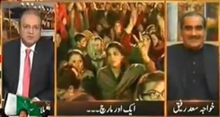 Khawaja Saad Rafique Blaming Nadeem Malik in Live Show To Be Pro-PTI Anchor