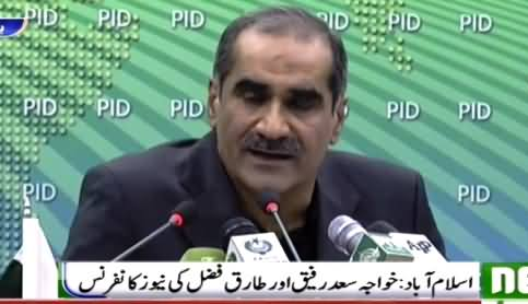 Khawaja Saad Rafique Complete Press Conference Against Imran Khan - 27th October 2016
