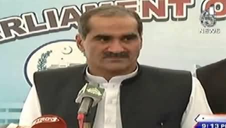 Khawaja Saad Rafique Criticizing Sheikh Rasheed, Imran Khan and Tahir ul Qadri