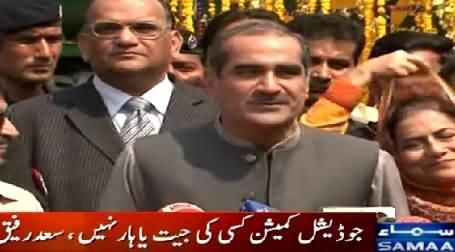 Khawaja Saad Rafique First Time Praising Imran Khan While Talking to Media
