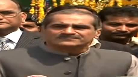 Khawaja Saad Rafique Indirectly Says That There is No Future of MQM