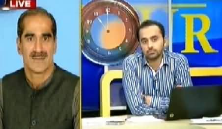 Khawaja Saad Rafique Talking to Waseem Badami Regarding PTI & PAT Sit-ins
