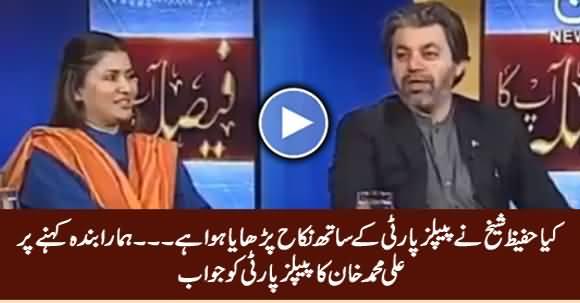 Kia Hafeez Sheikh Ne PPP Ke Sath Nikah Parhaya Huwa Hai - Ali Muhammad Khan