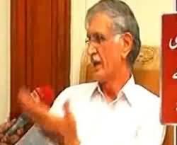KPK CM Pervez Khattak Blames Media For Blasts in Peshawar