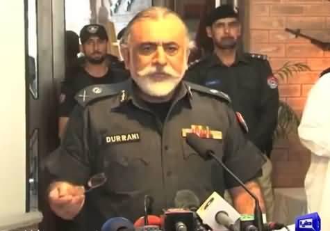 KPK IG Police Nasir Durrani Speaking to Media on Security Plan for Ramazan