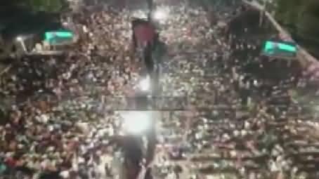 Latest Ariel View Of PTI Jalsa At Mazung Chungi Lahore - 9th October 2015