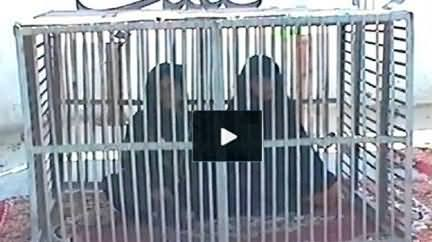 Layya Rape Victim Girl Confines Herself In A Cage As Protest