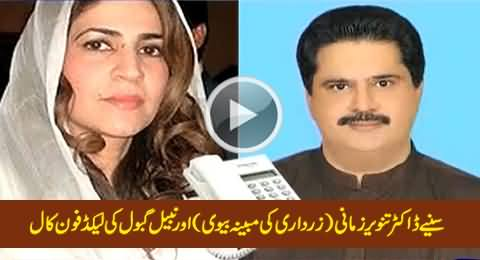 Leaked Telephonic Conversation Between Nabil Gabol & Dr. Tanveer Zamani