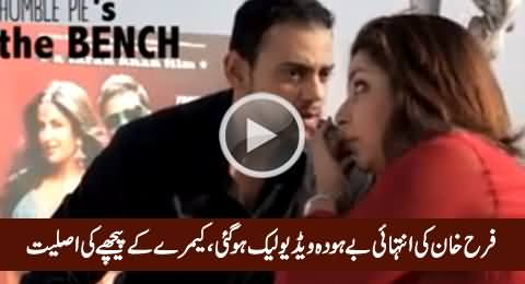 Leaked Video of Farah Khan, Really Immoral Off Camera Talk with Her Colleague