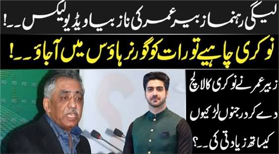 Leaked Video of PMLN Leader Muhammad Zubair Umar - Inside Details By Syed Ali Haider