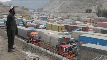 Lines of Containers After Blockade of NATO Supply by PTI, See in Pictures