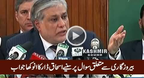 Listen Ishaq Dar's Reply on A Question About Un-Employment