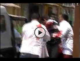 Live and Exclusive Video of Attack On Akberuddin Owaisi - Seriously Injured in Attack