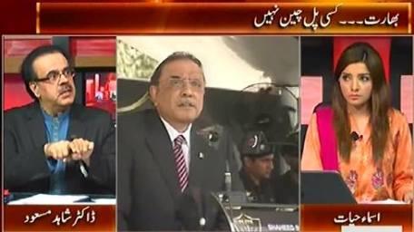 Live With Dr. Shahid Masood (Bharat Ko Kisi Pal Chain Nahi) – 8th October 2015