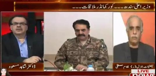 Live With Dr. Shahid Masood (CM Sindh & Core Commander Meeting) - 10th December 2015