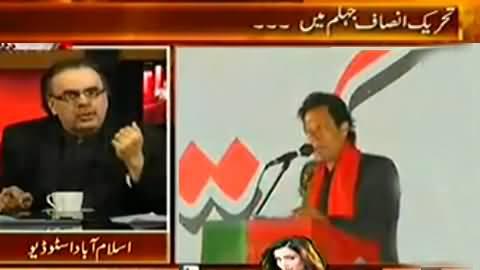 Live With Dr. Shahid Masood (Imran Khan Jalsa in Jhelum) - 16th November 2014
