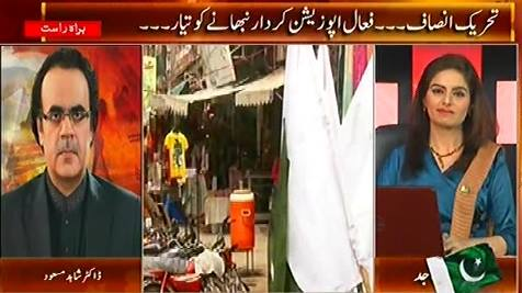 Live With Dr. Shahid Masood (PTI Ready To Become Active Opposition) – 7th August 2015