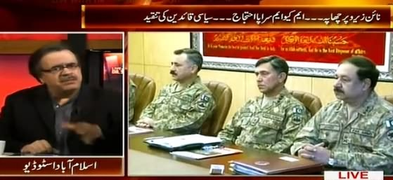 Live With Dr. Shahid Masood (Rangers Operation At MQM Headquarter Nine Zero) – 11th March 2015