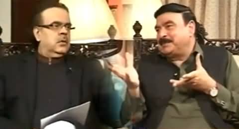 Live With Dr. Shahid Masood (Sheikh Rasheed Ahmad Exclusive Interview) – 13th October 2014