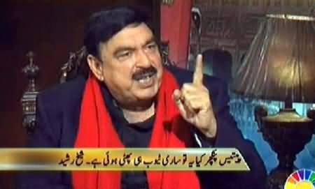 Live With Dr. Shahid Masood (Sheikh Rasheed Interview on 35 Punctures of Najam Sethi) – 14th February 2014