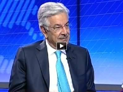 Live with Talat (Khawaja Asif Exclusive Interview) - 8th July 2014