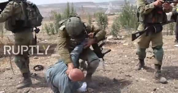Look How Brutally Israeli Forces Behaving With Palestinian's Protesters Near Tulkarm?