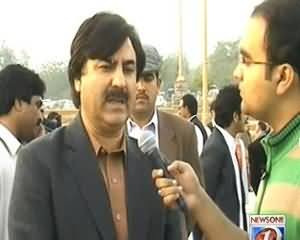 Maazrat Kay Saath (PTI's Protest In Front Of Parliament) - 5th December 2013
