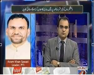 Maazrat Ke Saath (Finally, Imran Khan Supports Operation) - 25th February 2014
