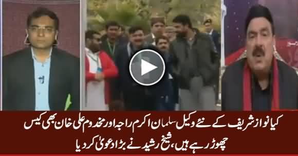 Makhdoom Ali Khan And Salman Akram Raja Might Quit Panama Case - Sheikh Rasheed
