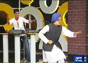 Manmohan Singh Dummy in Mazaaq raat and Funny Dance of Manmohan Singh
