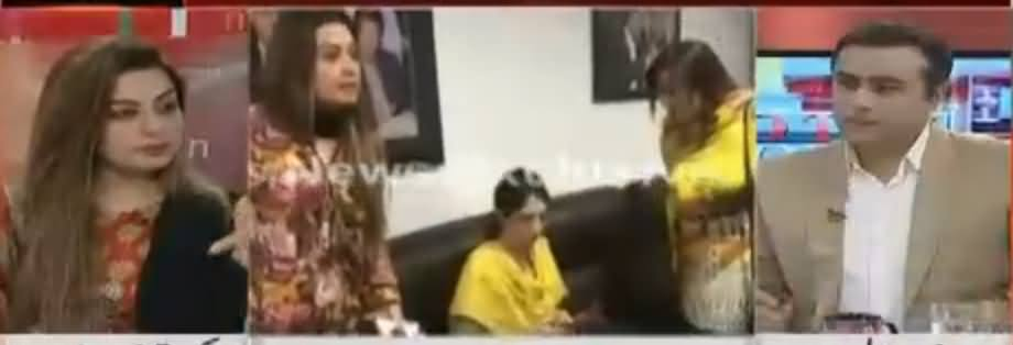 Mansoor Ali Khan Debate With Saima Shaukat (The Woman Who Fought in PTI Office)