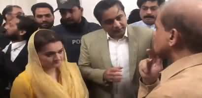 Mansoor Ali Khan And Maryam Aurengzeb Meet Shahbaz Sharif