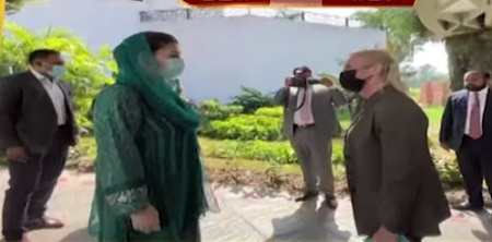 Maryam Nawaz Along with PMLN Delegation Meets with Angela Aggeler Chargé d'Affaires of USA