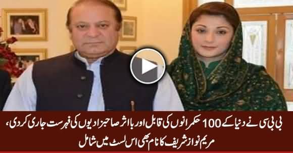 Maryam Nawaz Among 100 Influential Ruler's Daughter