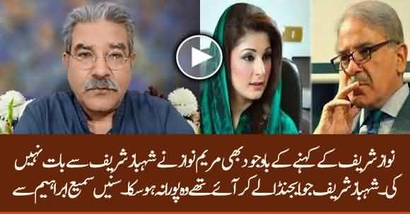 Maryam Nawaz Didn't Meet Shehbaz Sharif And Disobeyed Nawaz Sharif Orders - Sami Ibrahim Reveals