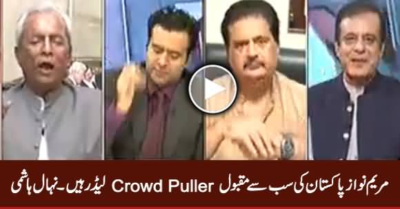 Maryam Nawaz Is The Most Popular Crowd Puller Leader of Pakistan - Nehal Hashmi