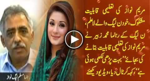 Maryam Nawaz Qualification Dubious, Even PMLN Leaders Unaware of Her Qualification