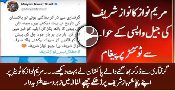 Maryam Nawaz's Indirect Attack on Her Uncle Shahbaz Sharif in Her Tweet