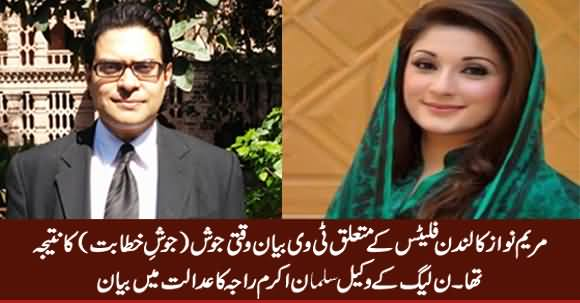Maryam Nawaz Statement About London Flats Was 'Heat Of The Moment' - Salman Akram Raja