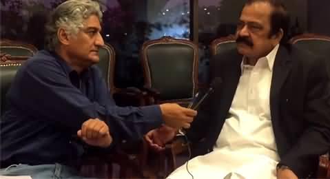 Matiullah Jan Asks Very Tough Questions To Rana Sanaullah About Dual Policy of PMLN