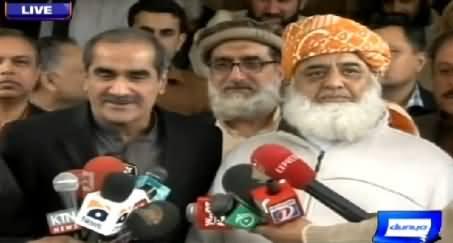 Maulana Fazal-ur-Rehman and Khawaja Saad Rafique Media Talk – 25th February 2015