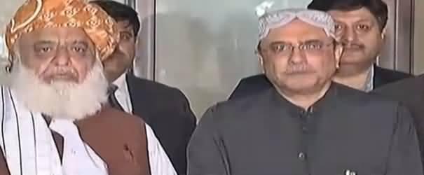Maulana Fazal ur Rehman & Asif Zardari Media Talk After Meeting - 22nd October 2018
