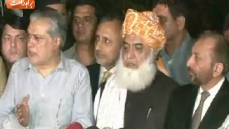 Maulana Fazal-ur-Rehman's Mission Successful, MQM Agreed on Taking Back Resignations