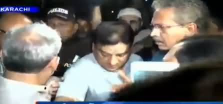 Mayor Karachi Waseem Akhtar Verbal Clash With A Senior Citizen