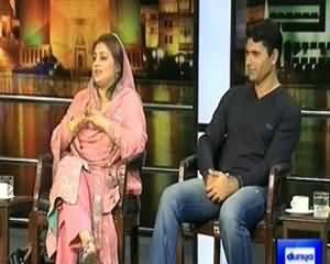 Mazaaq Raat (Cricketer Abdul Razaq and Uzma Bukhari of PMLN) – 22nd January 2014