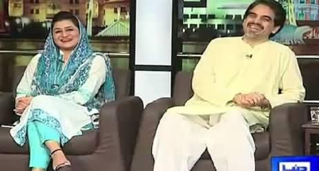 Mazaaq Raat (Sania Karman (PTI), Omair Rana Actor) – 19th August 2015