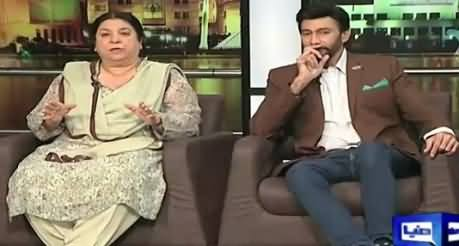 Mazaaq Raat (Dr. Yasmin Rashid PTI, Aijaz Aslam Actor) –8th September 2015